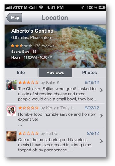 Alberto's Cantina Pleasanton Yelp Review