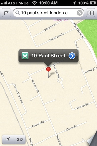 Apple Maps With Street Number