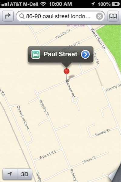 Apple Maps No Street Number