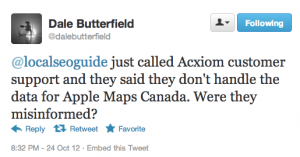 Blame Canada Acxiom