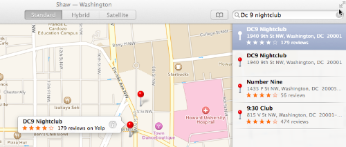DC Nine Apple Maps