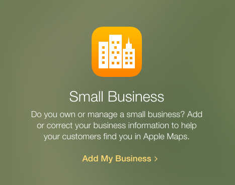 Add My Business To Apple Maps Screen