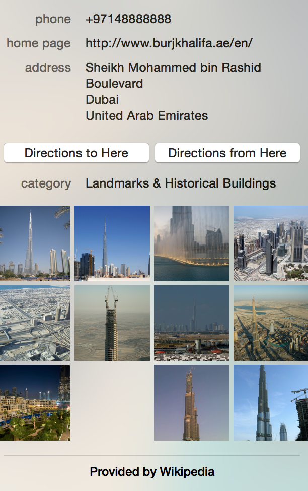 Apple Maps Wikipedia Photos