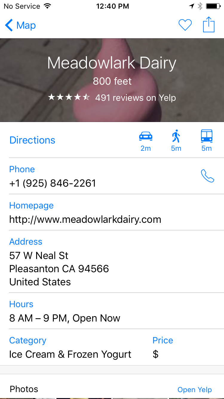 Apple Maps Business Profile